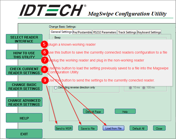 How to use MagSwipe Configuration Utility to Save/Load a